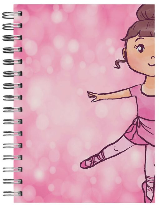 caderno personalizado bailarina